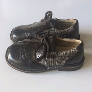 Boys Brown Designer Luccini Shoes 27 / 9.5 10